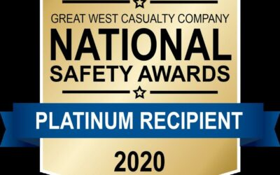 Platinum Safety Award Presented by Great West Casualty Company